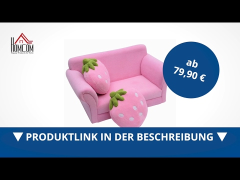 Homcom Kindersofa Erdbeere Kindersessel Kinderzimmer (Erdbeersofa)  - direkt kaufen!