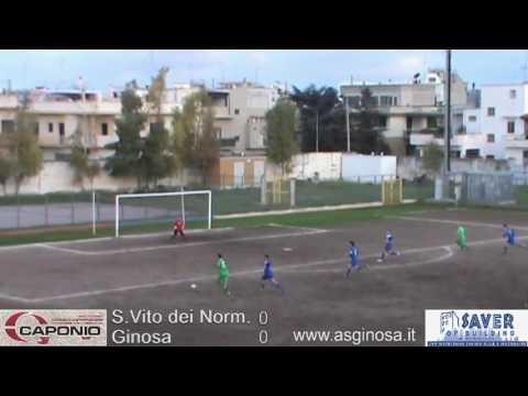 Preview video SAN VITO dei Normanni-GINOSA 0-0 Ginosa imbattuto a Carovigno in una gara resa nervosa da un arbitraggio insufficiente