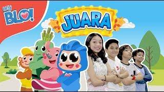 JUARA (Lyric Video) - Naura & Genk Juara | HEY BLO!