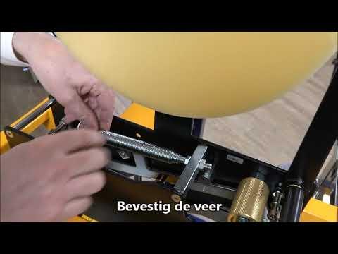 CT 103 SD: Veerspanning tapekop aanpassen