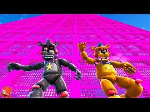 Download ANIMATRONIC ROCKSTAR FREDDY & LEFTY SLIDE DOWN 999,999 FEET! (GTA 5 Mods FNAF RedHatter) Mp4 HD Video and MP3