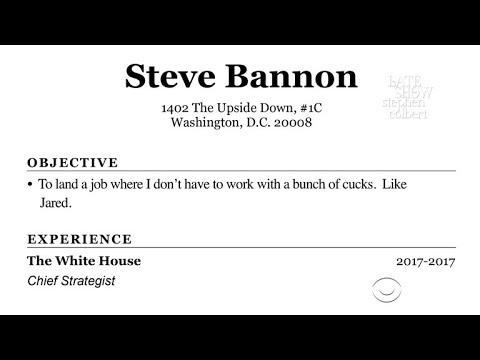 Steve Bannon Updates His Resumé