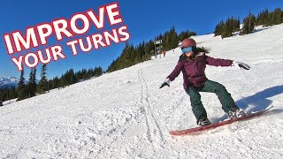#39 Snowboard intermediate – Tips for improving snowboard turns