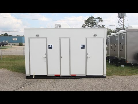 ADA Restroom Trailers | Portable Restrooms Trailer | Double Executive ADA Park Model