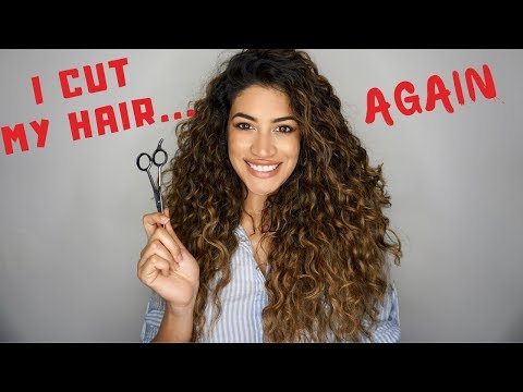 DIY DOUBLE UNICORN HAIR CUT -  HOW TO GET LAYERS IN CURLY HAIR