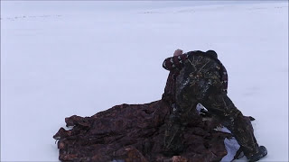Зимняя палатка с печкой для охоты