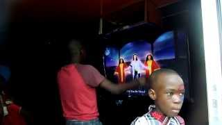 preview picture of video 'Michael Jackson rules at Mobile Video Game Truck Party in Abuja!!'