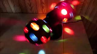 Dual Disco Ball JR. Demo 2 Rotating Disco Balls