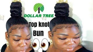 How To Do A  Bun With Braiding Hair | Natural High Top Knot