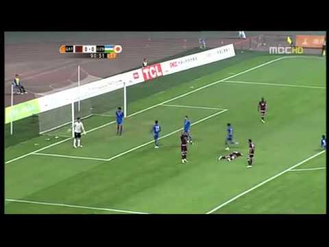 Quatar international fails to score an open goal at a friendly game on sept 2rd 2010.