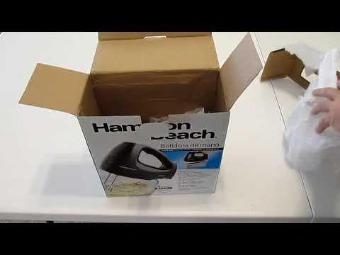 , Hamilton Beach 62682RZ Hand Mixer with Snap-On Case, White