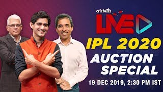 It's Auction Day! 338 players, 73 vacant slots, 8 teams, 1 Auction. Gaurav Kapur, Harsha Bhogle and Joy Bhattacharjya bring you all the updates & statistical analysis on #CricbuzzLIVE.  #IPL2020Auction #IPL2020