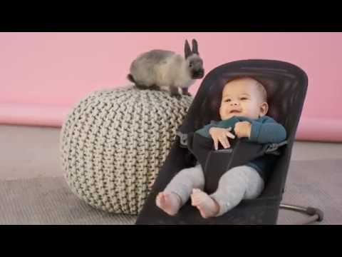 Babybjorn кресло-шезлонг Bliss Cotton Антрацитовый