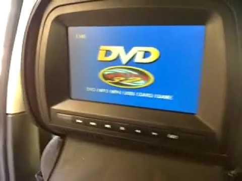 appui tete dvd avec enceinte integre dans siege auto