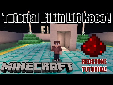 Video Cara Membuat Lift Redstone Bawah Tanah! - Minecraft Tutorial Indonesia #1