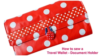 preview picture of video 'Travel Wallet - How to sew with free pattern'