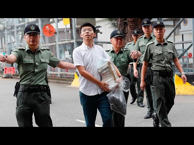 Hong Kong: Activist Joshua Wong freed from jail to join mass protest