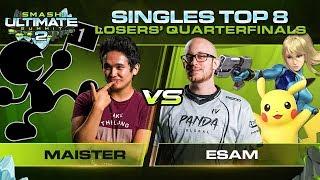 Maister Vs ESAM   Singles: Losers Quarterfinals   Ultimate Summit 2 | Game & Watch Vs ZSS, Pikachu