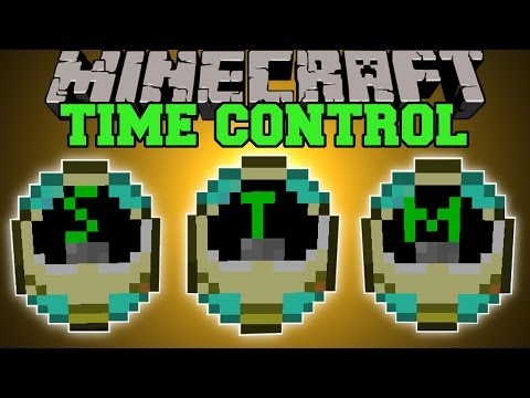 Minecraft: TIME CONTROL MOD (ENTER THE MATRIX, FAST MOTION, & SLOW MOTION!) Mod Showcase