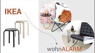 IKEA HACK: Wunderschöne Beistelltische aus Hocker 'Frosta'