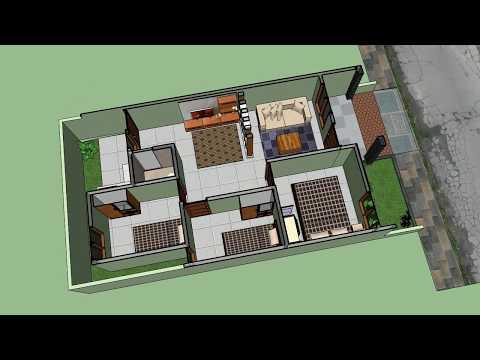 Denah Rumah Minimalis 3 Kamar Ukuran 6x12  denah rumah minimalis 3 kamar tidur ukuran 6x12