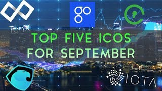 Top Five Recent ICOs To Watch In September
