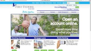 First Federal Online Banking Login Instructions