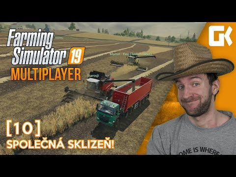 SPOLEČNÁ SKLIZEŇ!   Farming Simulator 19 Multiplayer #10