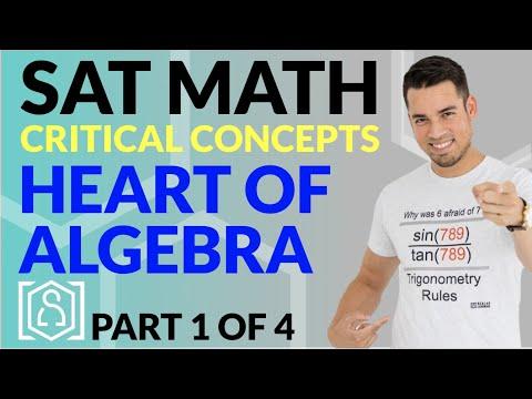 SAT Math: Critical Concepts for an 800 - Heart of Algebra (Part 1 of 4)