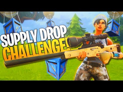 Supply Drop *ONLY* Challenge! (Hard) - PS4 Fortnite BR Challenge Gameplay!