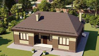 Проект дома 130-B, Площадь дома: 130 м2, Размер дома:  12,1x14,5 м