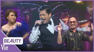 Tân trề bất ngờ xuất hiện với vai trò ca sĩ bí ẩn khiến Tiến Luật, Việt Hương vô cùng phấn khích