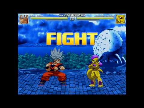 MUGEN- SSJB Vegeta vs  SSJB Goku A I Battle - смотреть