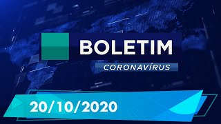 Boletim Epidemiológico Coronavírus 20/10/2020