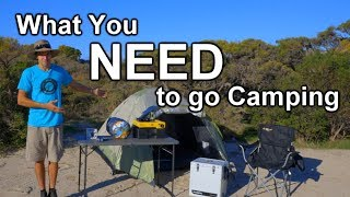 What You Actually NEED to go Camping