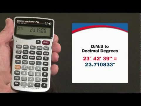 Construction Master Pro - D:M:S to Decimal Degrees
