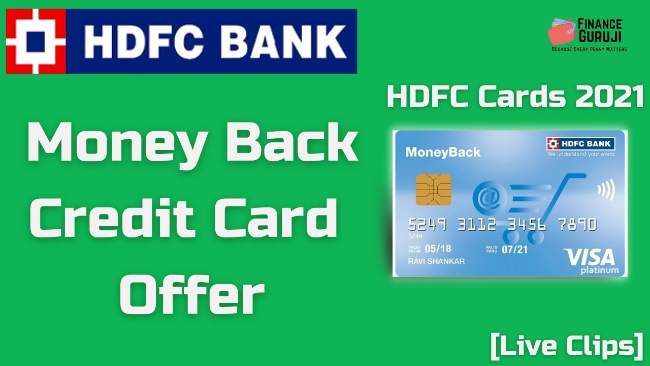 MoneyBack Charge Card Deal By HDFC Bank [Live Clip] thumbnail