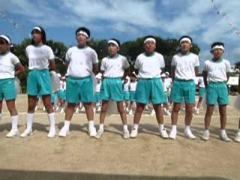 榎井小学校2015運動会 応援合戦白組