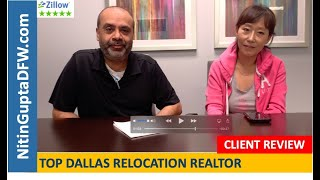Another 5-Star video testimonial & review from a home buyer client relocating to Dallas from Vir