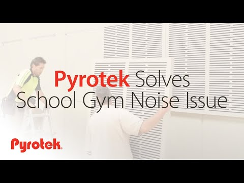 Pyrotek solves school gym noise issue with Echohush Cosmo