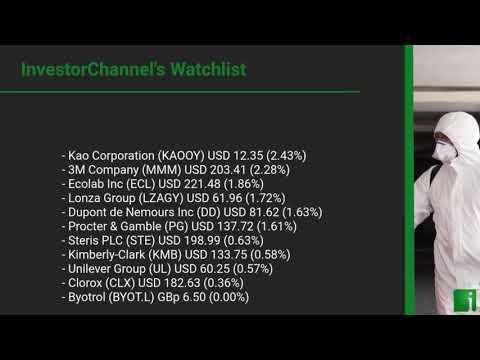 InvestorChannel's Disinfection Watchlist Update for Thursday, May, 13, 2021, 16:00 EST