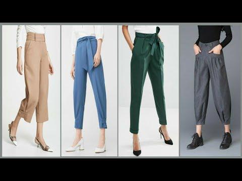 Latest stylish trouser pant for girls 2019    trendy stylish pants