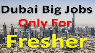Dubai Big Jobs For Fresher Sunday Special Jobs 2019 | Hindi Urdu |