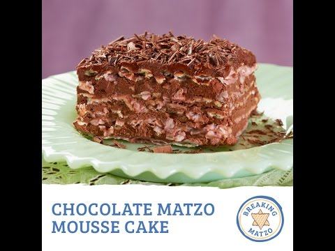 Video Chocolate Matzo Mousse Cake