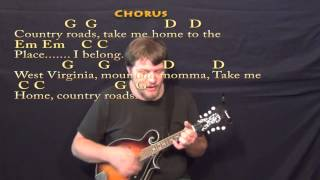 Country Roads (John Denver) Mandolin Cover Lesson with Chords/Lyrics