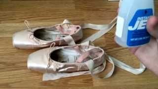 HOW TO JET GLUE POINTE SHOES   Roma Watkins