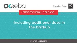 Watch a video on Including Additional Data in the Backup [06:45]