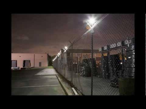 using cast lighting for perimeter wall