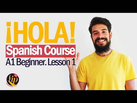 SPANISH BEGINNER COURSE - Learn Spanish for free! Lesson 1. Spanish, English, Russian subtitles