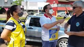 Lions Clube de Capitão faz divulgação da campanha fralda solidária